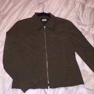 Dark green jacket with collar